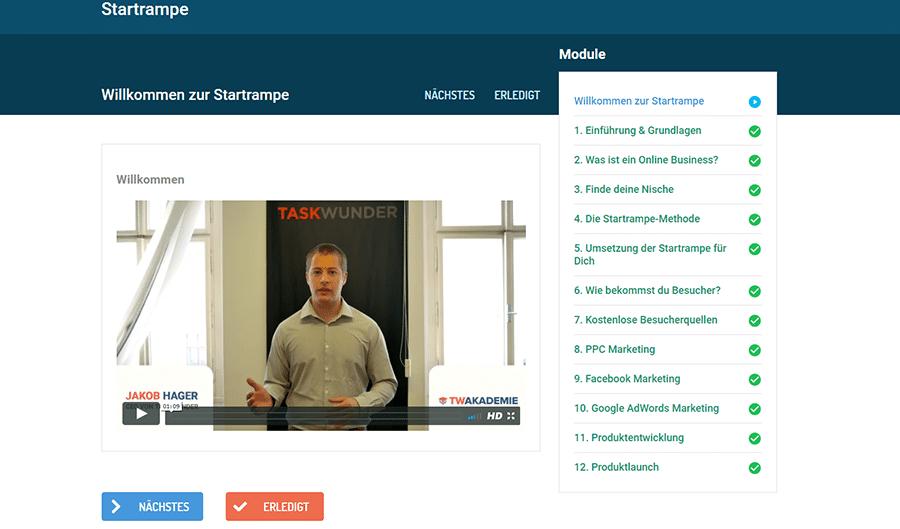 Video Startrampe