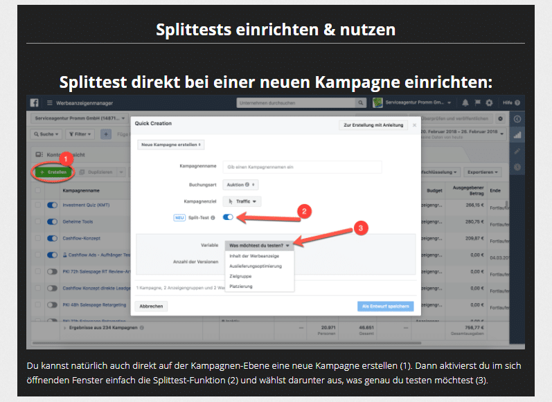 cashflow ads- splittest