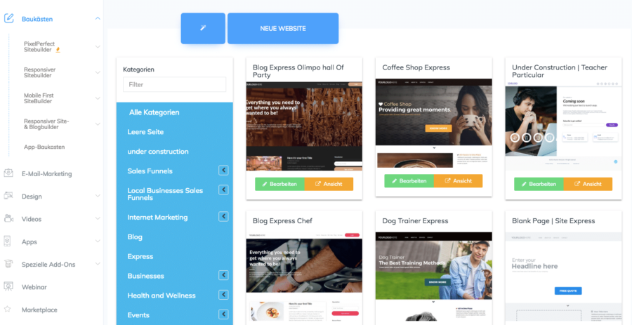 BuilderAll Erfahrungen - SiteBuilder