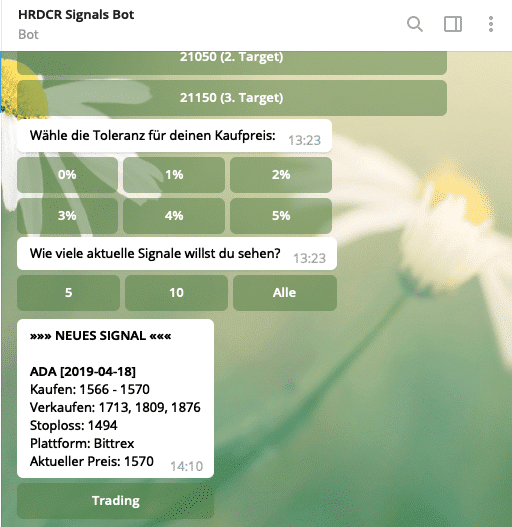 Hardcore signals telegram bot