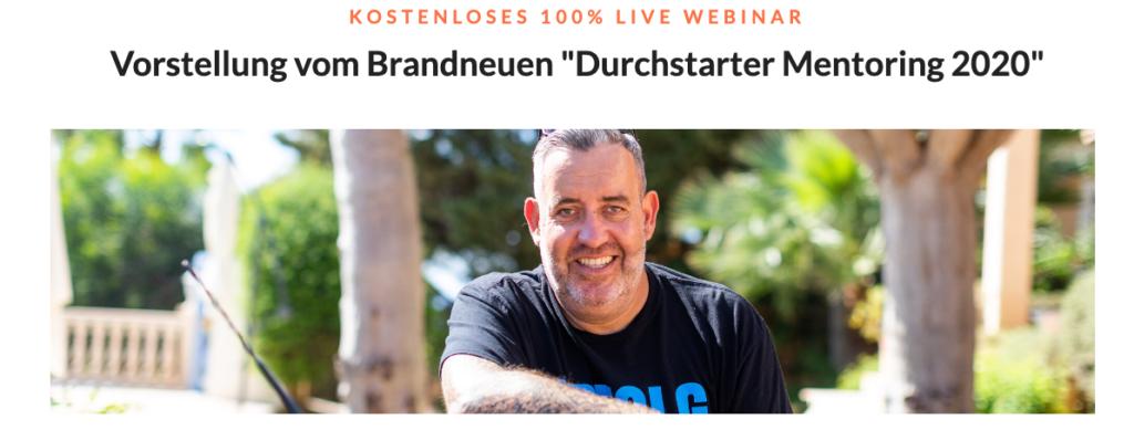 durchstarter mentoring 2020 live webinar